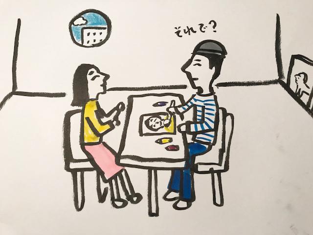 キン・シオタニ 原画フリマと似顔絵イベント