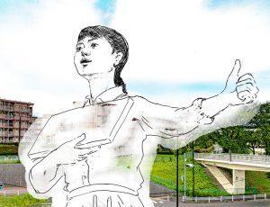 パリコレッ!ギャラリー vol.13 下大沢駿「木曽山崎でヒッチハイク」